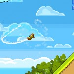 Retry controla un aeroplano al mejor estilo Flappy Bird